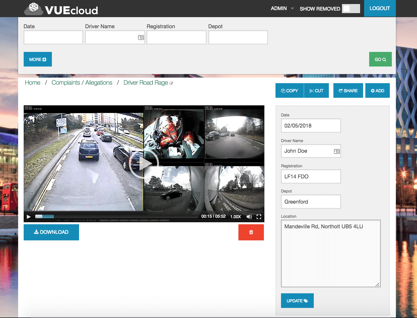VUEcloud: Securely Upload, View and Share your fleets CCTV footage