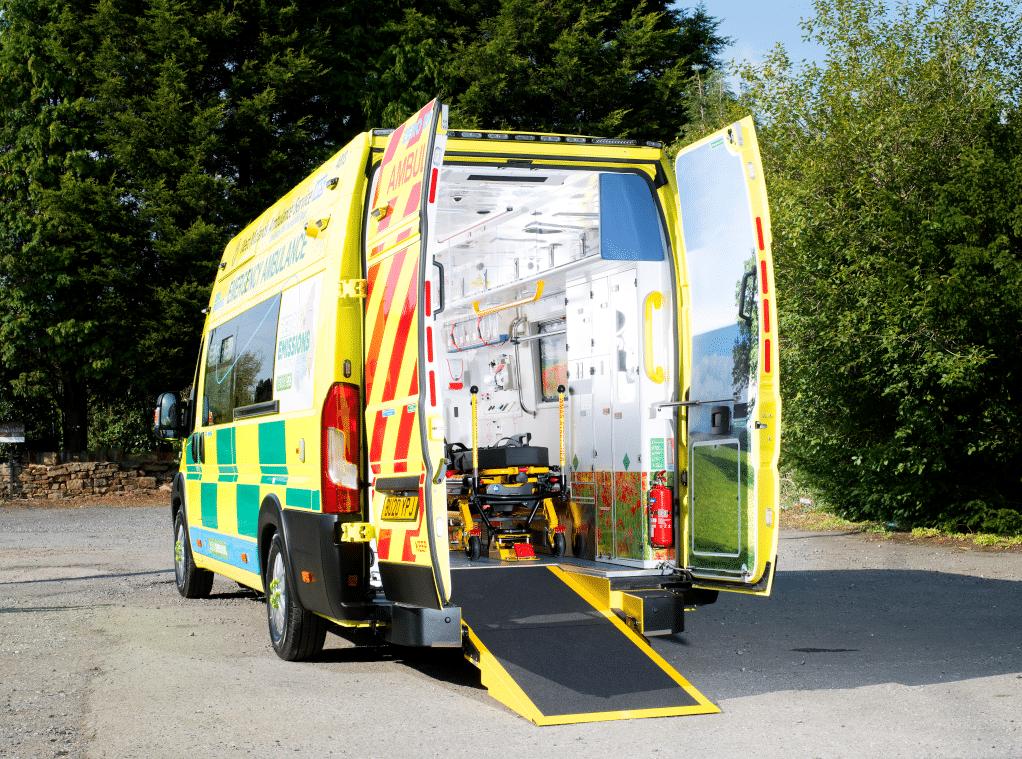 innovative video telematics back of ambulance