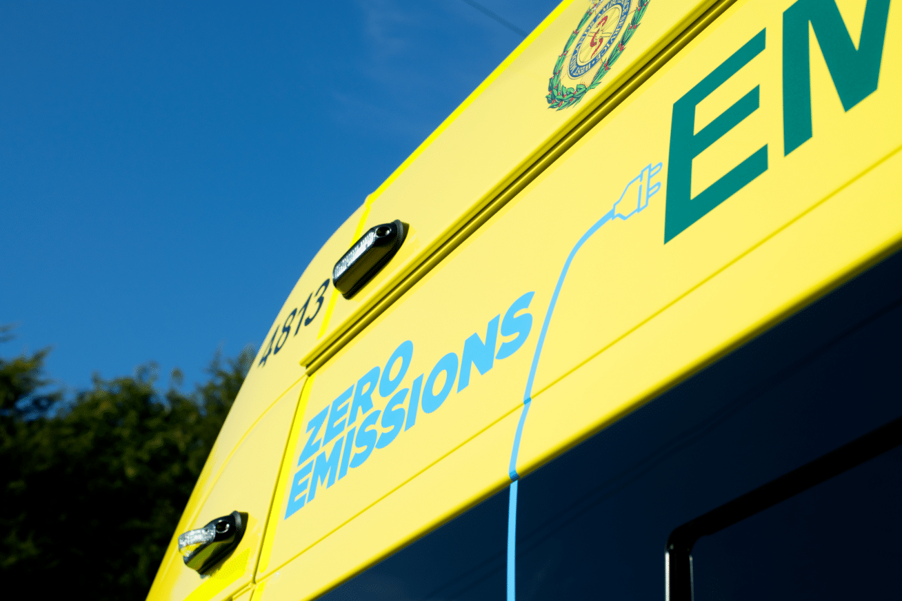 innovative video telematics zero emissions ambulance